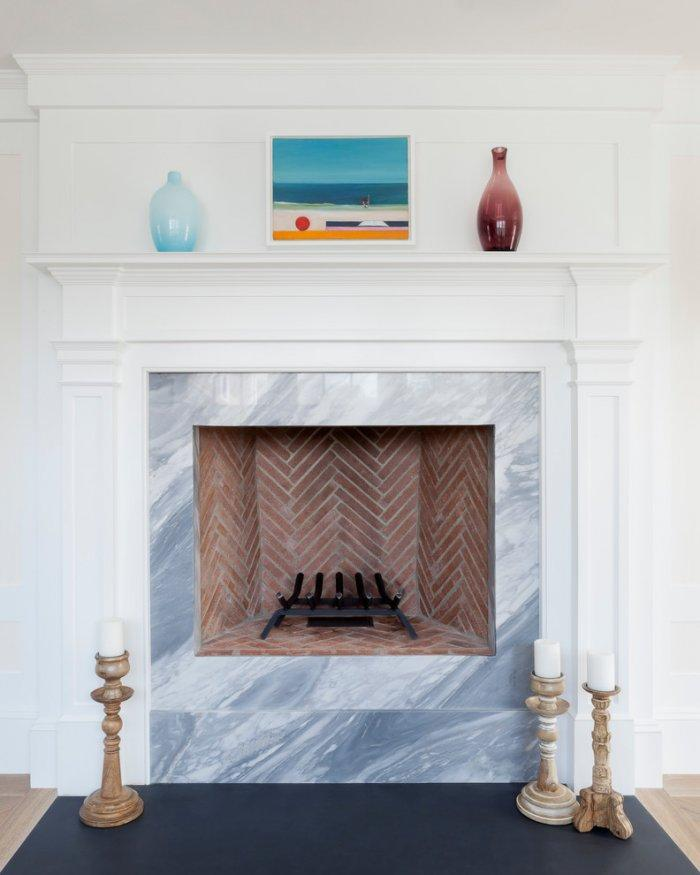Feng shui fireplace - with marble cladding