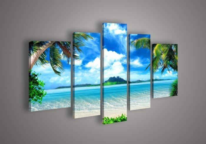 Feng shui wall painting - an ocean landscape with island