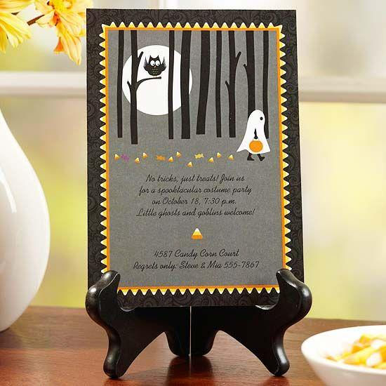 Funny Halloween invitation - with graphic illustrations