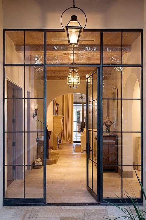 Glass Front Door With Glazed Framework