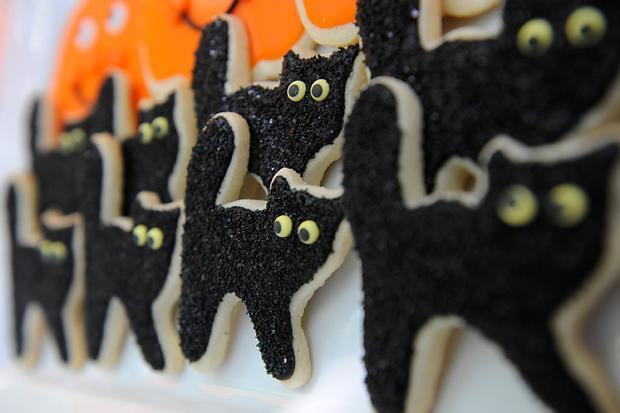 Halloween kids decorations - small black cats