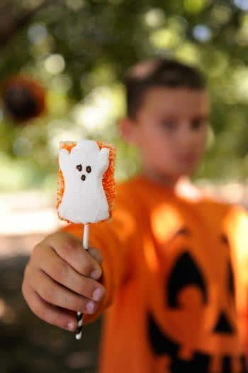Halloween kids sugar candy - in orange and white