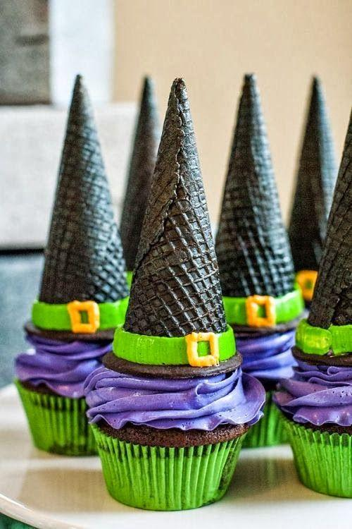 Halloween party treats - with witch hats