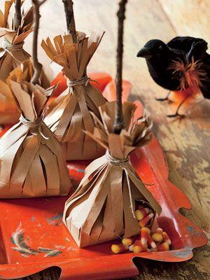 Halloween trats - hidden in small paper teepees