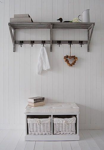 Hallway Storage Chest And Coat Rack Above It