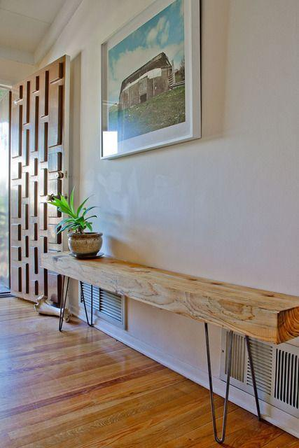 Hallway wooden shelf - for modern rustic atmosphere
