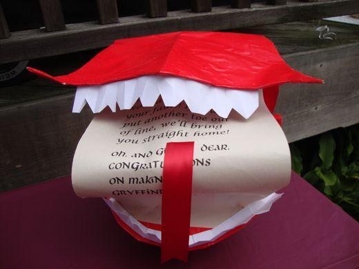 Handmade Hallowen invitation - in red color