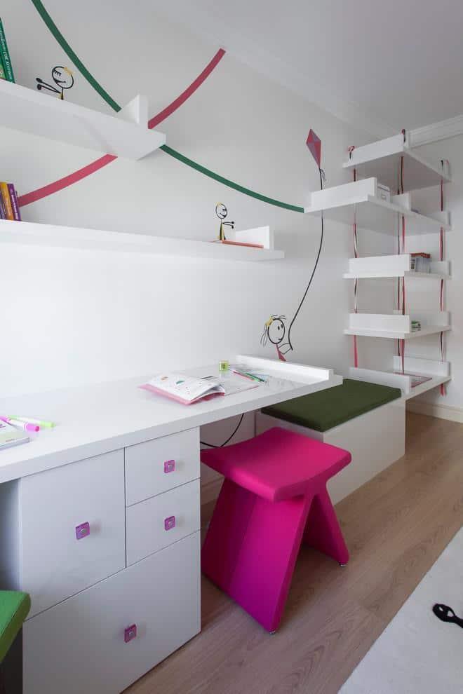 IKEA floating shelves - inside a kids room