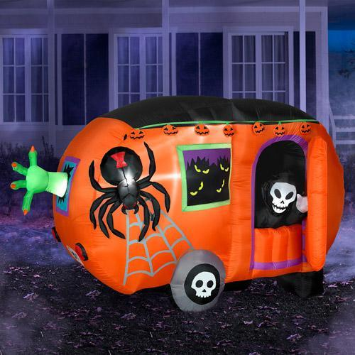 Inflatable Halloween Cart - with skeletons and spiders