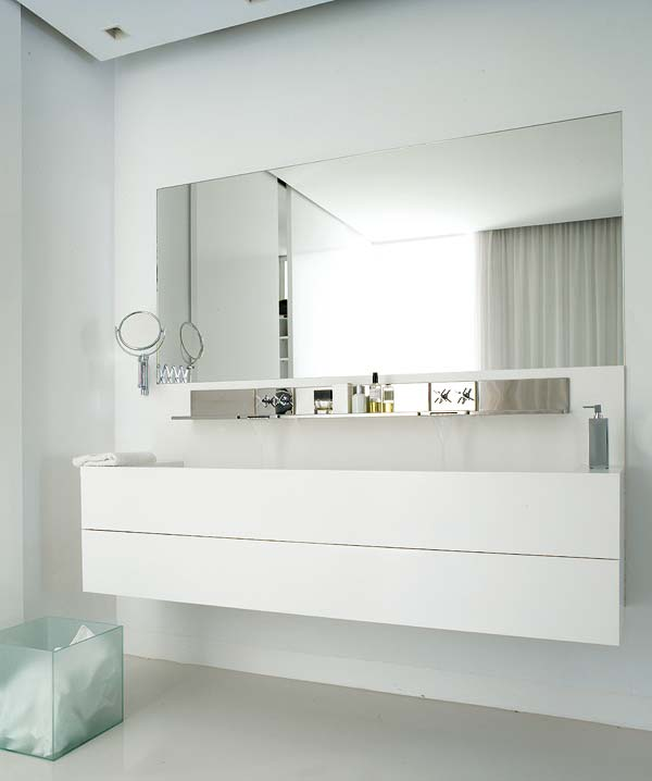 Large white sink - inside a small bathroom