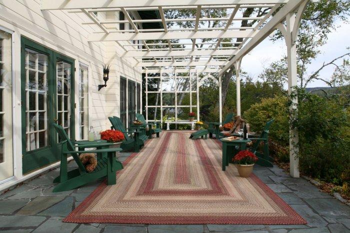 Long outdoor rug - placed on the front porch