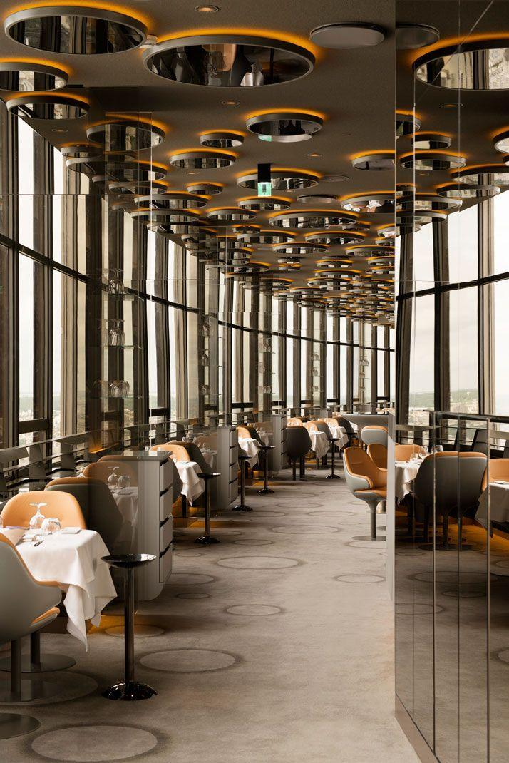 Luxurious Paris restaurant - with round facade and beautiful views