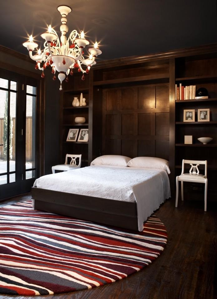 Luxurious dark bedroom - with murphy bed