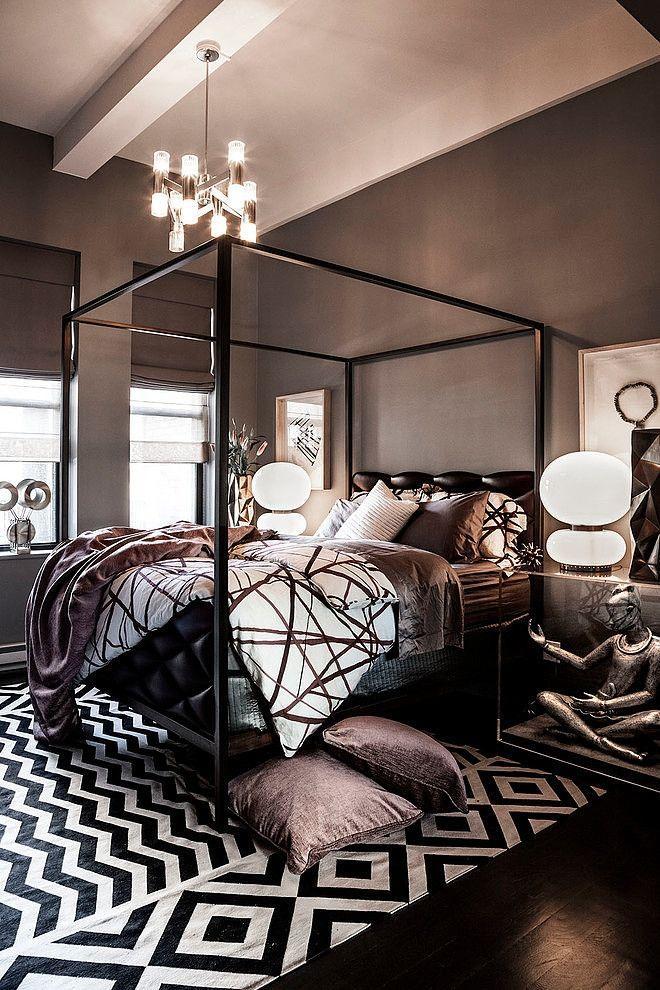 Luxurious dark bedroom - with ultra modern design