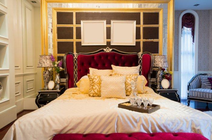 inside image red luxury bedrooms