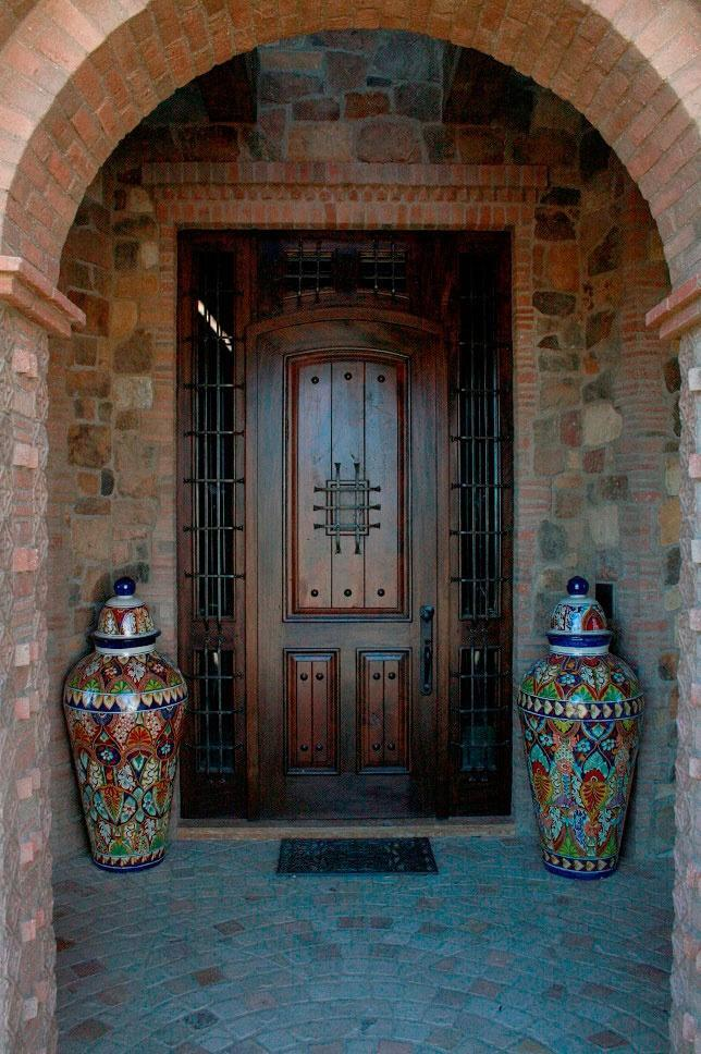 Front doors wood glass modern and double entry doors for Mediterranean style entry doors