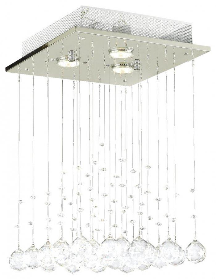 Modern chandelier - with hanging crystal hearts