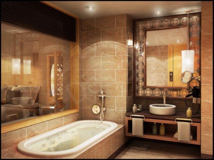 Modern classic bathroom mirror - in rectangular shape