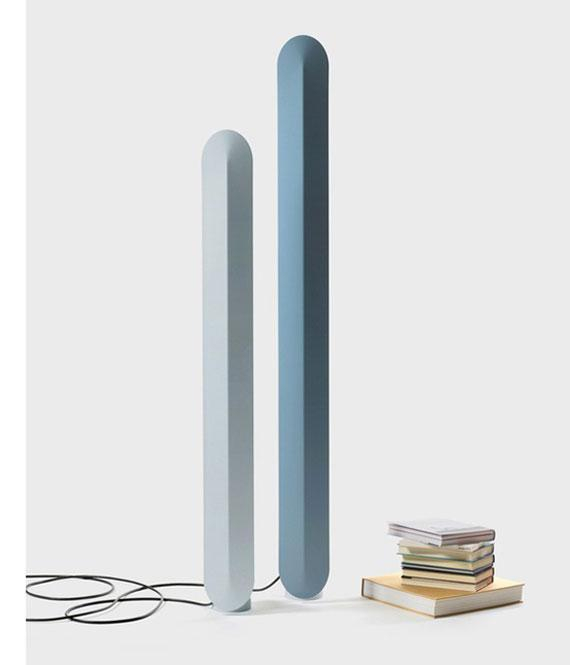 Modern minimalist lamps - in pale colors
