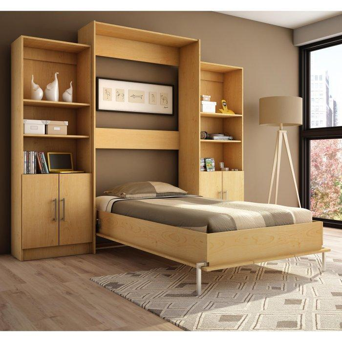 Modern murphy bed - inside a small bedroom