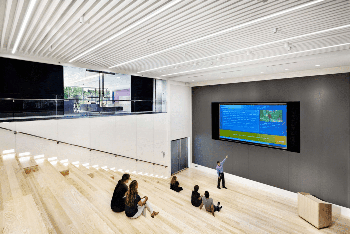 Modern office meeting room - with large screen for presentations