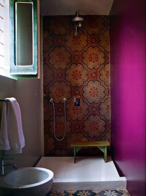 Modern orient tiles design - with vivid hues