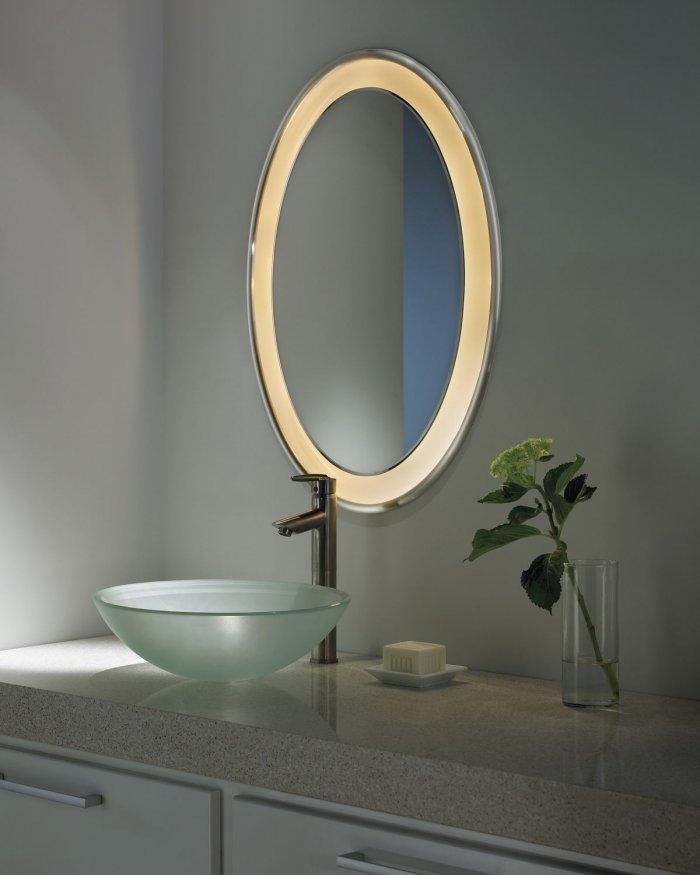 Bathroom mirrors inspiring modern ideas founterior for How to frame an oval bathroom mirror