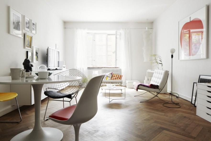 Modern small apartment and studio design ideas founterior for Modern small studio apartment design