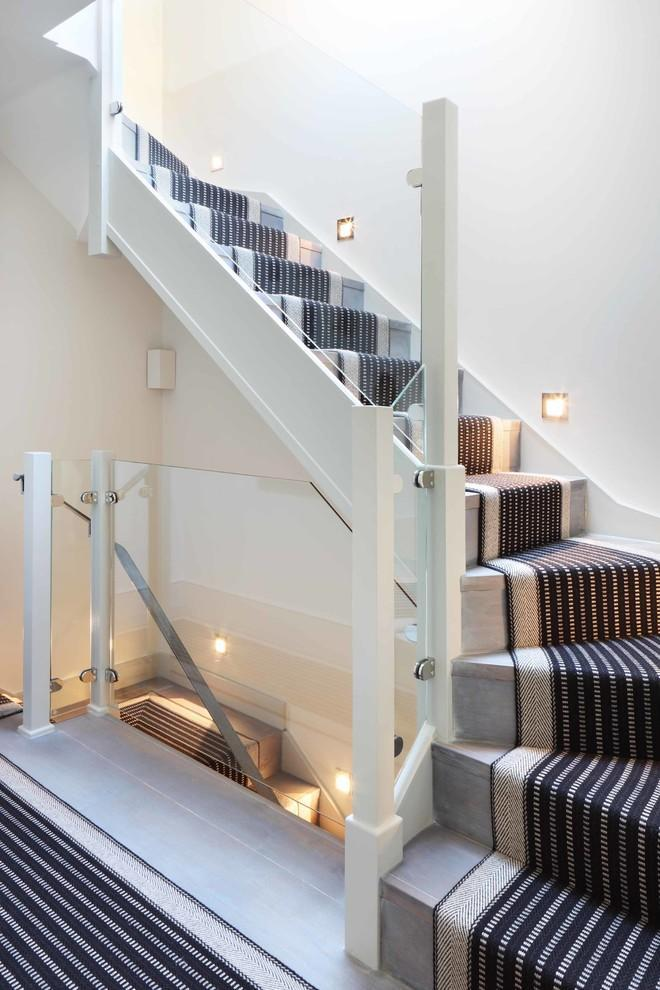 Modern Stair Runners   In Black And White