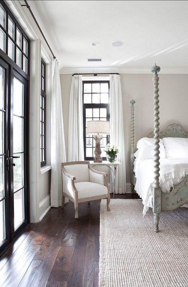 Modern traditional white bedroom - with sunny interior and lots of windows