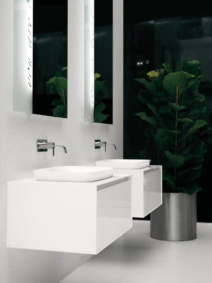 Modern white sink - with square shape