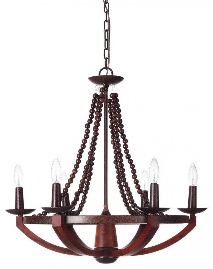 Modern wood chandeliers - with light bulbs