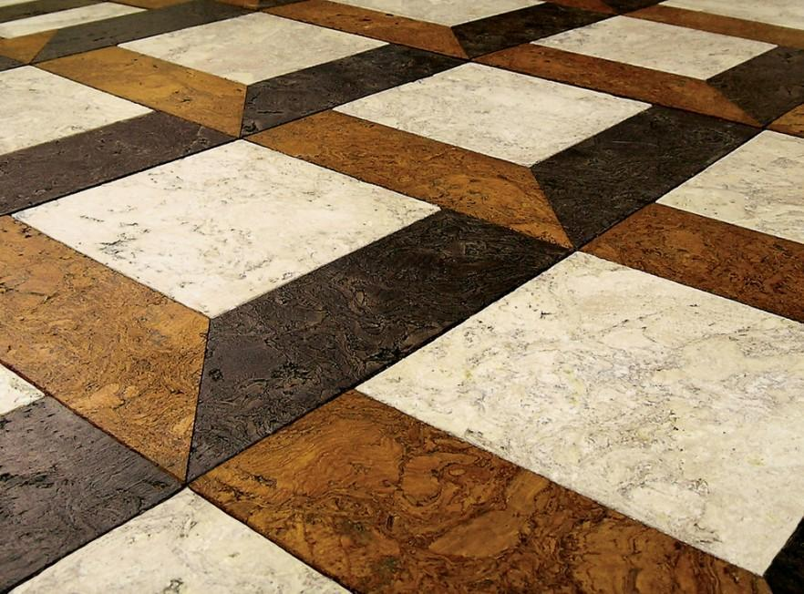 Cork tile flooring warm and attractive design ideas Different design and colors of tiles