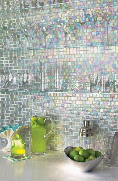 Mosaic tiles - made of tiny pieces