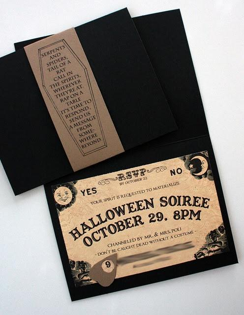 Official Halloween invitation - with written the date and time of the celebration