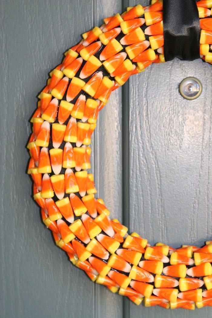 Orange Halloween wreath - made of tiny little elements