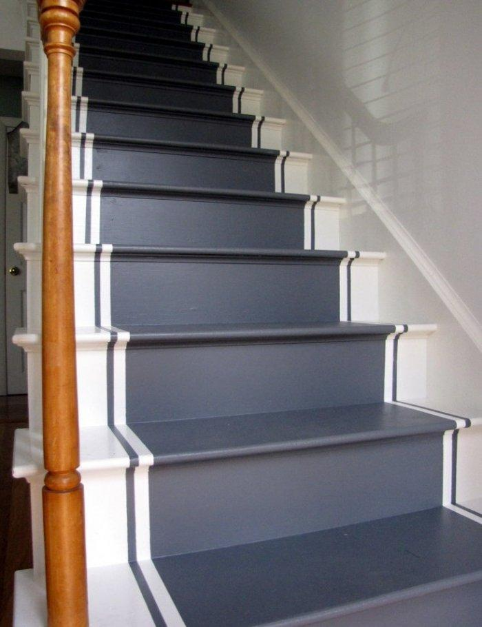 Painted stair runners - a practical and functional decorative idea
