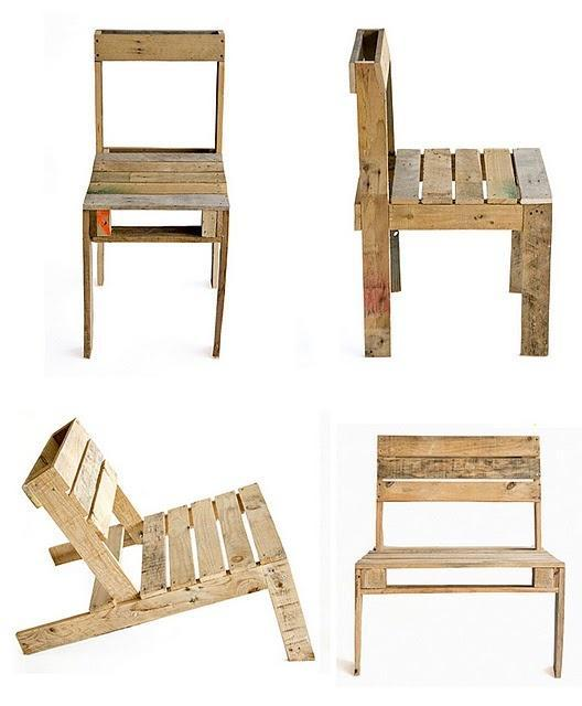 Pallet Chair design - a view from all the sides