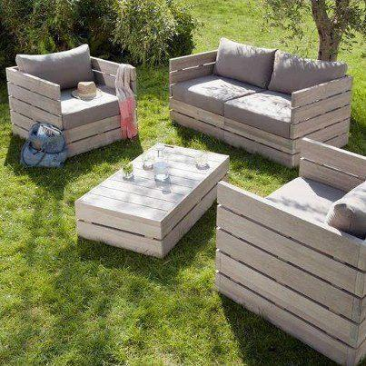 Pallet Garden furniture - armchairs, sofas and table