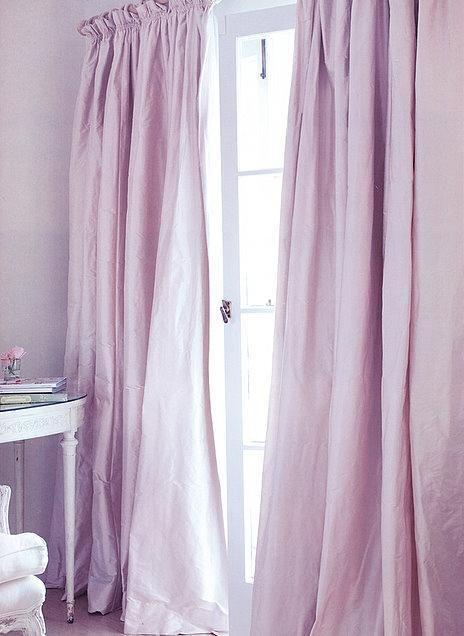 Pink feng shui curtains - for fresh air flow