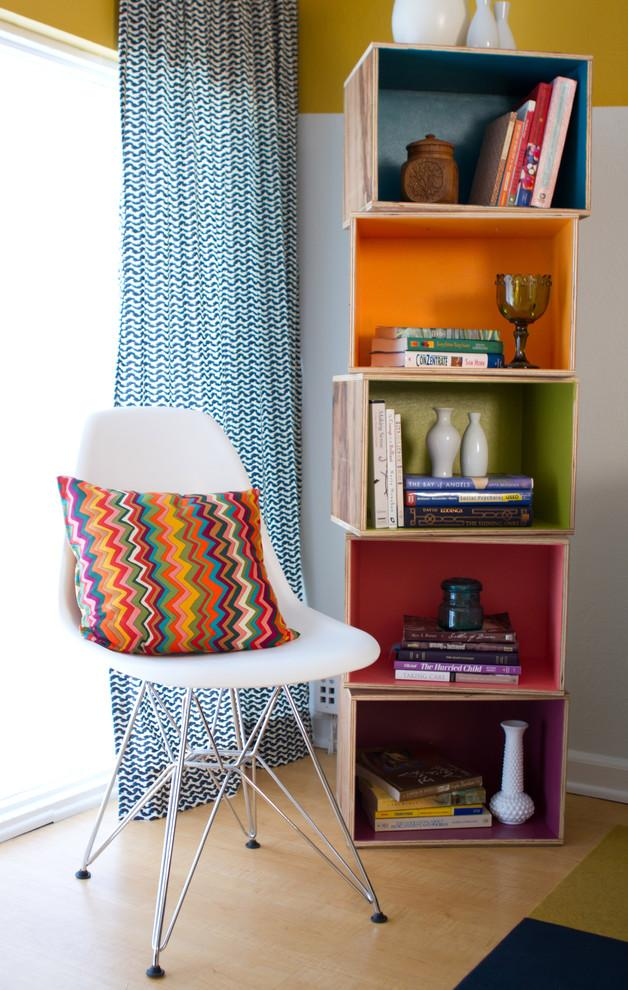 Playful modern bookcase - with colorful sections that can be separated