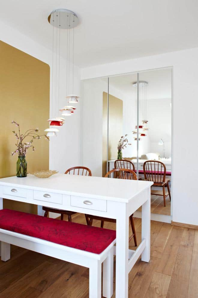Practical small dining room - inside a tiny apartment