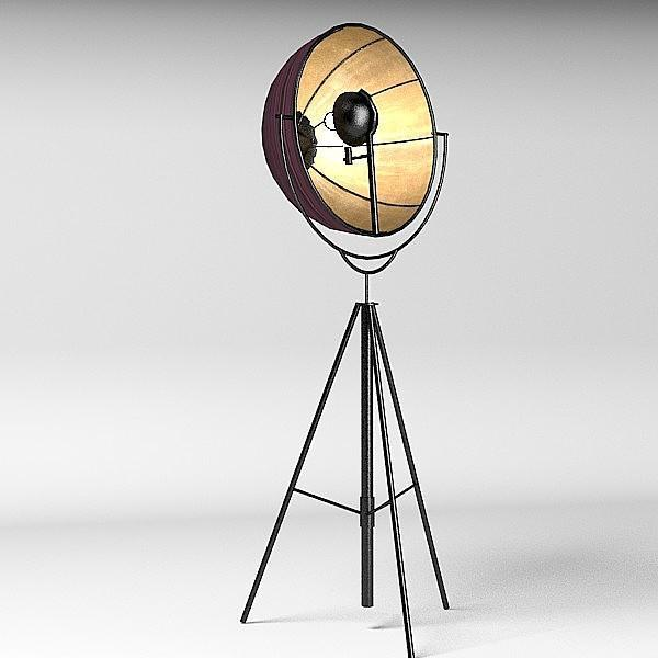 Professional looking lamp - with open shade