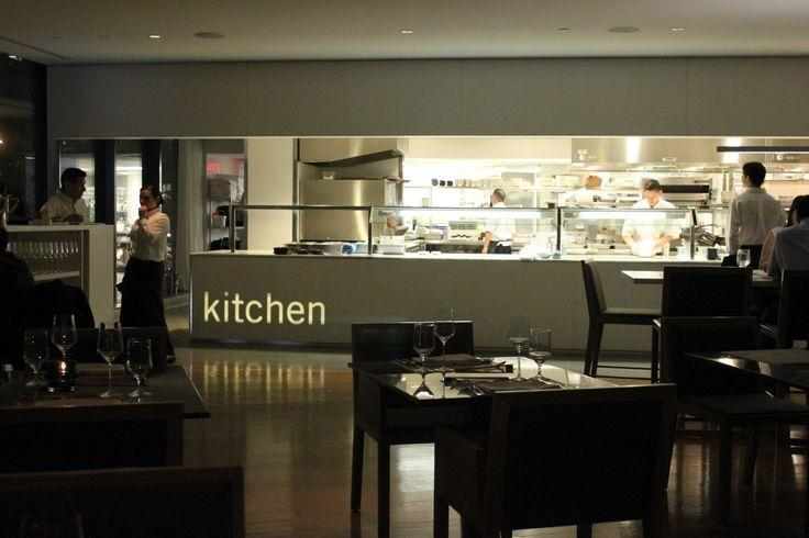 Restaurant kitchen - opened towards the main volume