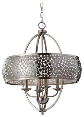 Round metal chandelier - for interesting interior decor