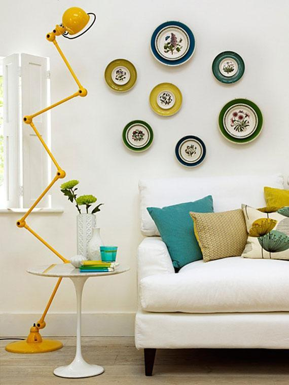 Scandinavian style lamp - in yellow color