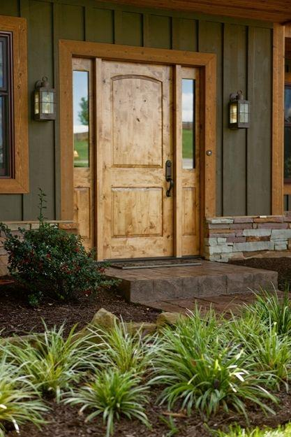 Simple wood front door - for American houses