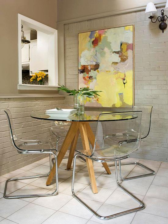 Small dining room - with modern table and chairs