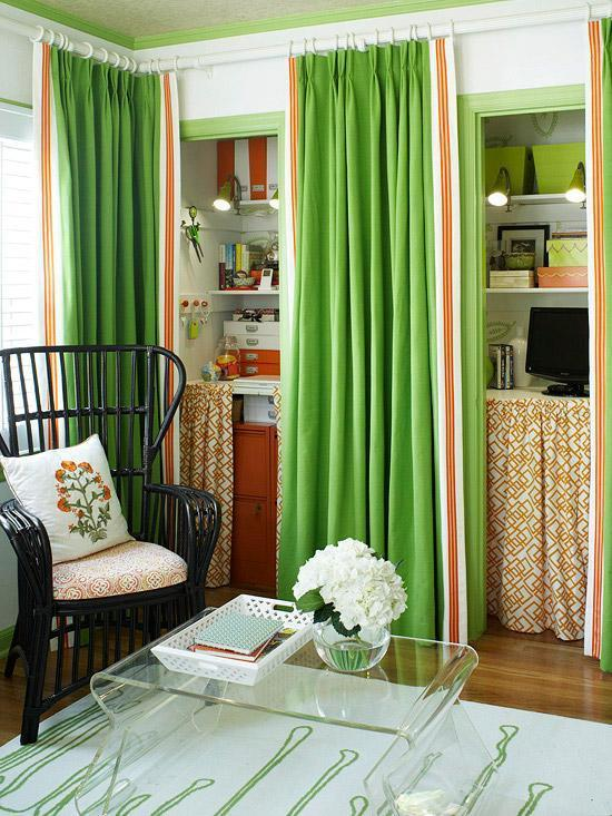 Small green apartment - with playful interior
