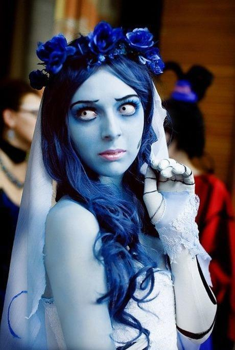 Spooky girl Halloween costume - in blue color